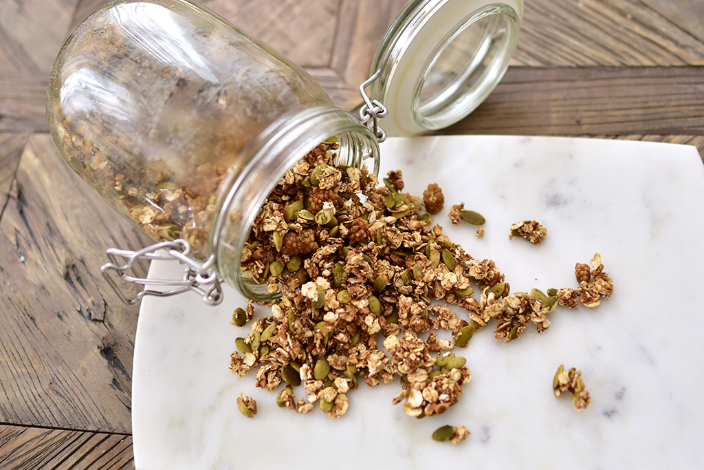 granola recept vegan musli glutefri