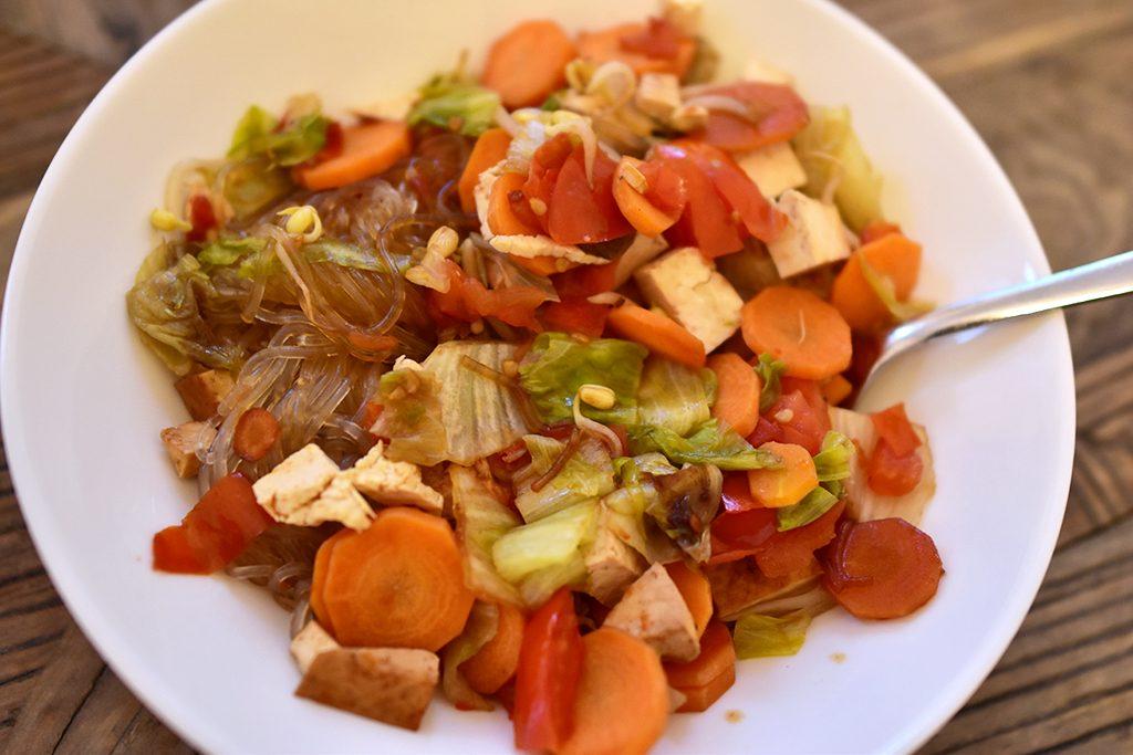 vegan wook lunch enkel recept