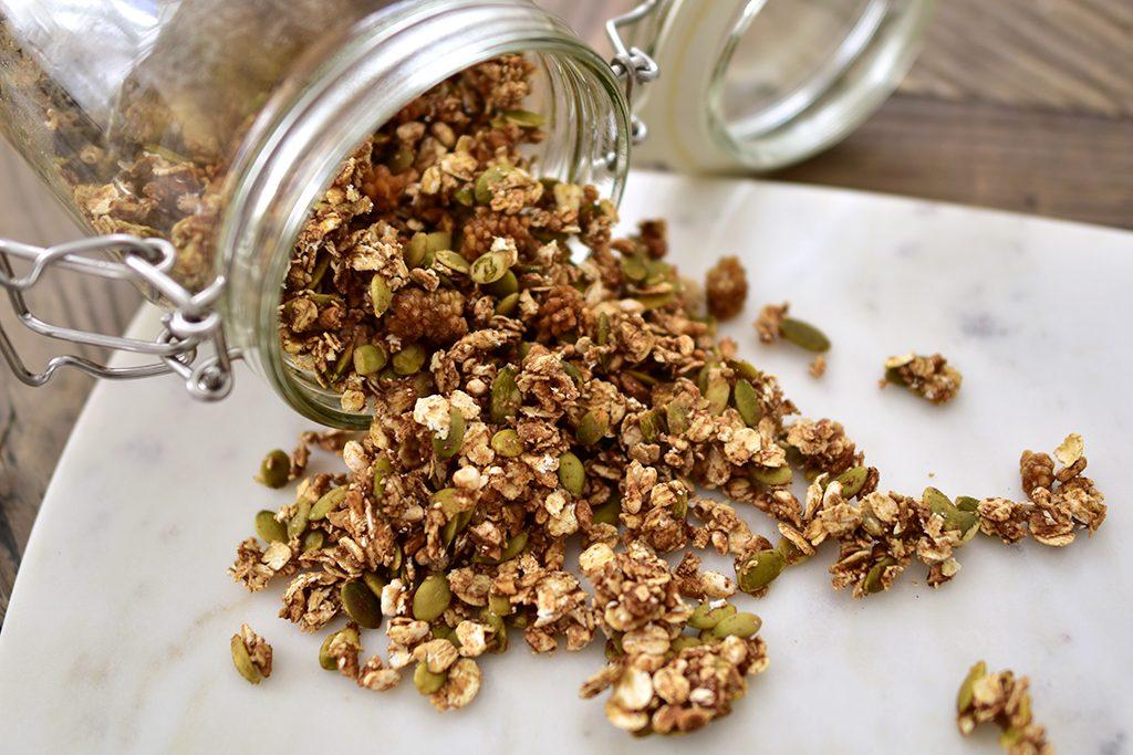 granola vegan glutenfri musli recept