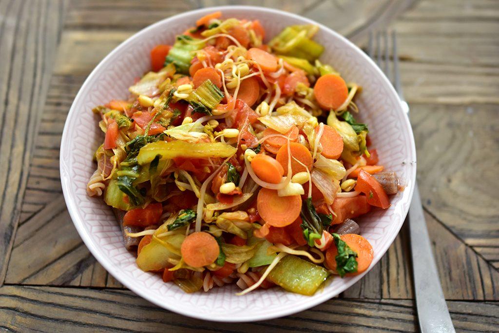 vegan pasta recept