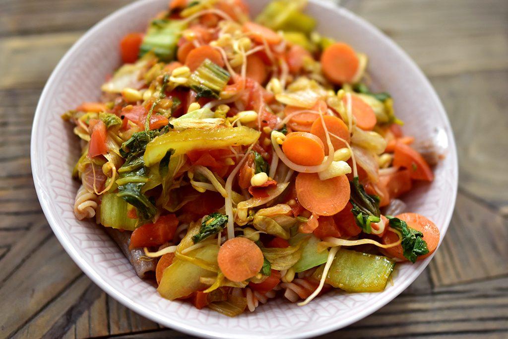 vegan recept pasta